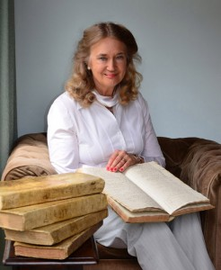 Margaret Bird with the diary