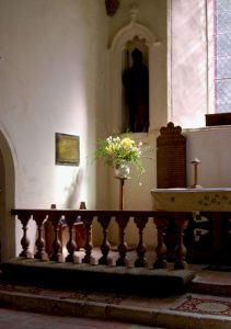 Briningham Church, Communion rails c.1700