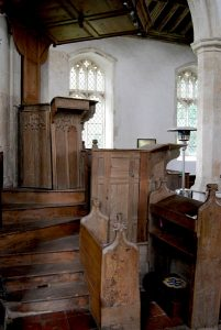 Brisley Church, the three-decker pulpit