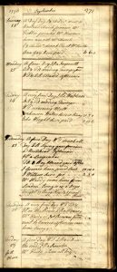 Mary Hardy's diary, Sept. 1776