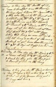 Mary Hardy's MS diary: Mary Ann's wedding