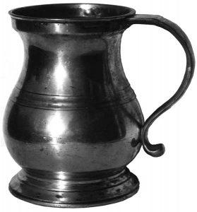 Anchor's quart tankard, early C19