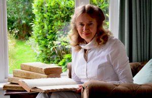 Margaret Bird with Mary Hardy's diary